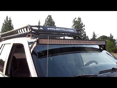 jeep grand light bar jeep grand 4x4 project zj part 47 led light bar