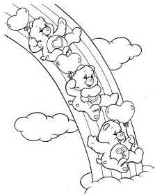 care bears coloring pages free a rainbow to colour in coloring pages