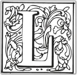 free coloring pages of fancy letter l