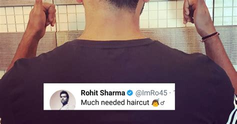 rohit sharma unveils his new hair style on twitter and rohit sharma has got a haircut twitter is brutally