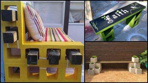 how to make a cinder block bench diy cinder block outdoor bench how to make