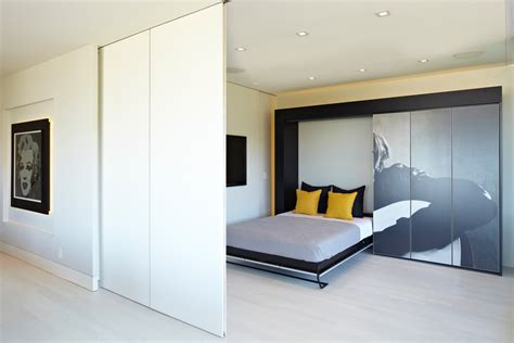 Modern Murphy Bed by Modern Murphy Bed With Bedroom Bookcase Bookshelves Built In Beeyoutifullife
