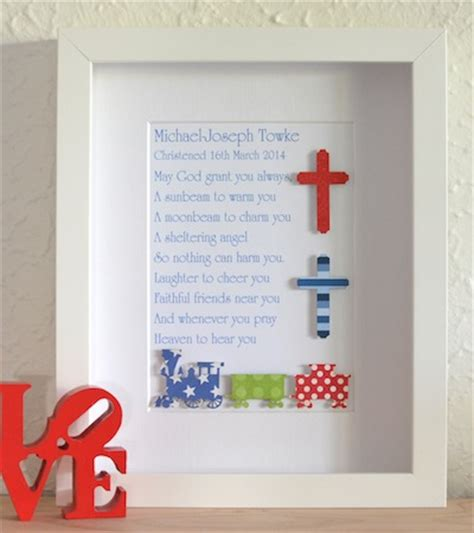 Handmade Christening Gifts - the best baby boys personalsied keepsake gifts
