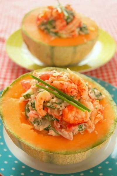 dairy  prawn salad  melon recipe food recipes