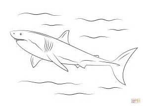 Great White Shark Coloring Page Free Printable Coloring Great White Shark Coloring Page