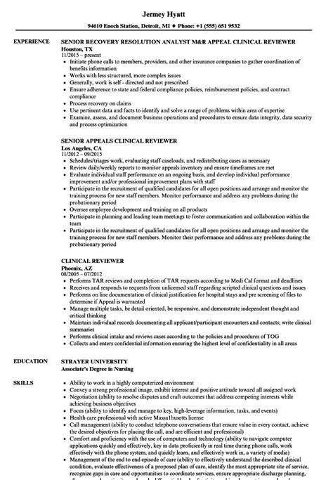 Resume Reviewer by Clinical Reviewer Resume Sles Velvet
