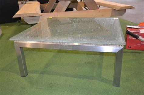 Salontafel Gebroken Glas by Salontafel Rvs Gebroken Glas Lxbxh Ca 94