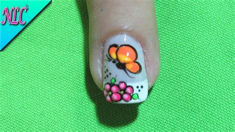 imagenes de uñas pintadas con mariposas decoracion de u 241 as mariposa y flores como pintar