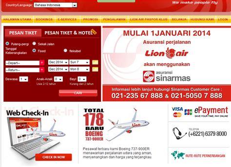 tutorial web check in lion air tips cek in online pesawat lion air tiket pesawat