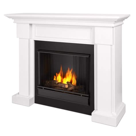 gel fuel fireplace hillcrest ventless gel fuel fireplace in white with logs