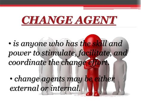 change agent organizational change