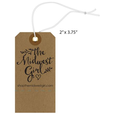 custom tags for custom apparel garment clothing hang tags st louis tag