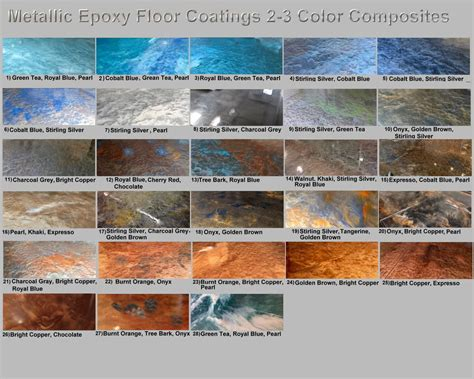 epoxy paint colors metallic mica epoxy concrete garage floor countertop paint