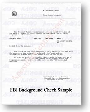 Free Federal Background Check Fbi Background Check Apostille Central