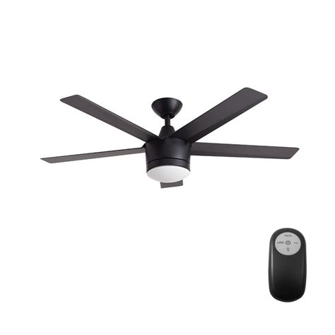 matte black ceiling fan with light home decorators collection merwry 52 in integrated led