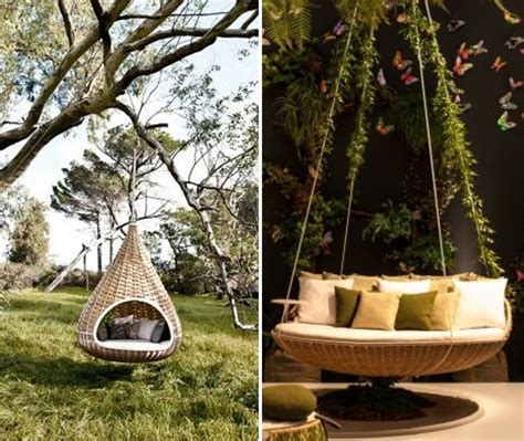 cool outdoor swings swing nest rests dynamic duo of outdoor lounging urbanist