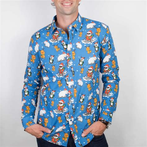 the ultimate blue funky christmas shirt