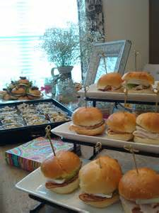 what of food do you want for bridal shower