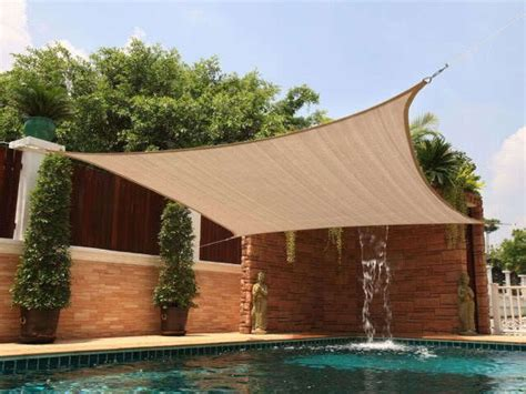 backyard sail canopy new square 12x12 sun shade sail cover canopy outdoor patio yard pool