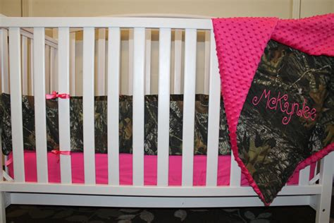 mossy oak crib bedding pink mossy oak camo with minky dot baby crib bedding set