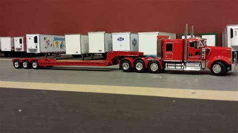 kenworth heavy haul for custom dcp red heavy haul kenworth kw w900 semi cab truck