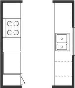 Galley Kitchen Floor Plan by Used Kitchen Cabinets Kitchen Floor Plan Basics