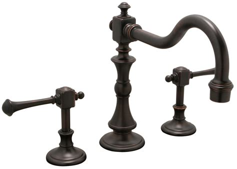 Bridge Style Kitchen Faucet Mobk20nnl Monarch Two Lever Handle Bridge Style Kitchen Faucet Antique Bronze Ebay