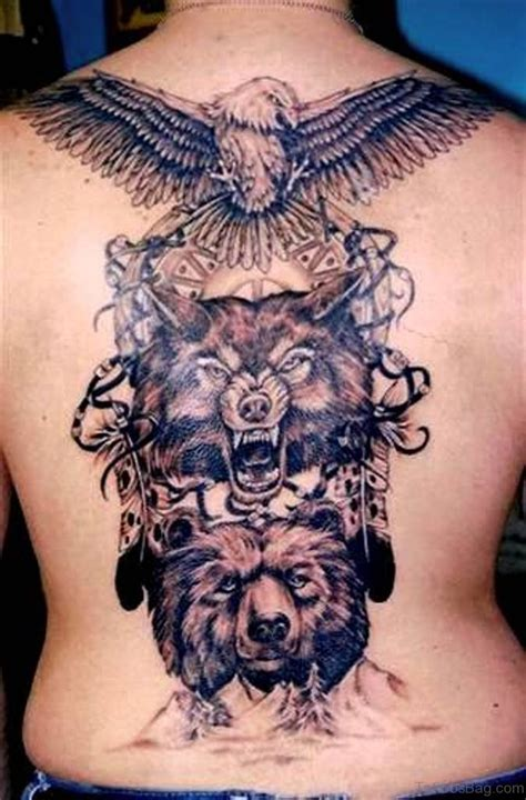 93 Stunning Wolf Tattoos For Back Eagle And Wolf Tattoos