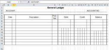 Business Ledger Template Excel Free General Ledger Template And Free Download