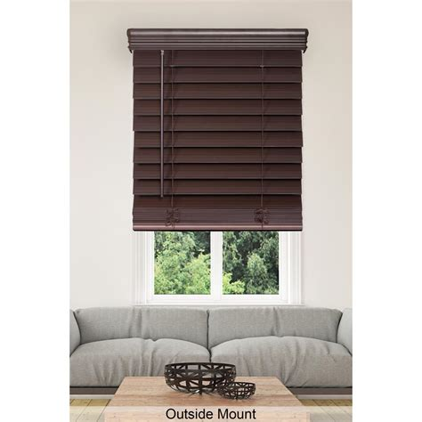 home decorators collection faux wood blinds home decorators collection espresso cordless 2 1 2 in