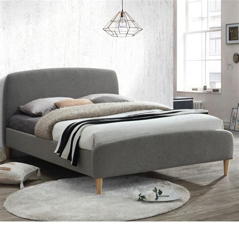small double bed uk quebec grey fabric bed 4ft small double