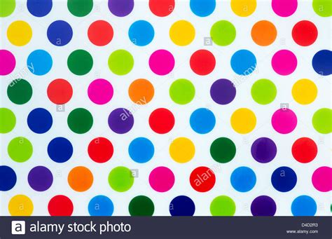 colorful dots colourful dot pattern on white background stock photo