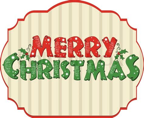 christmas card merry christmas illustration label stock
