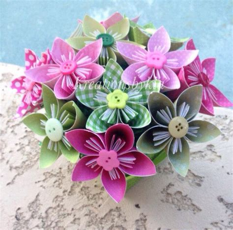 garden wedding flower arrangements garden of kusudama origami flower bouquet flower