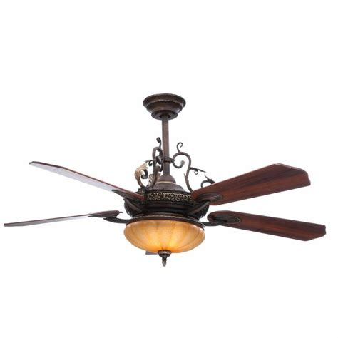 walnut ceiling fan hton bay chateau 52 in de ville walnut ceiling fan