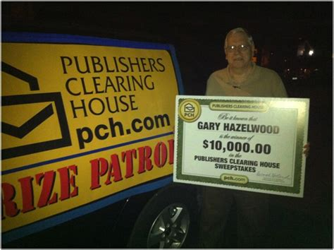 Real Publishers Clearing House Winners - good luck comes to real publishers clearing house winner gary hazelwood pch blog