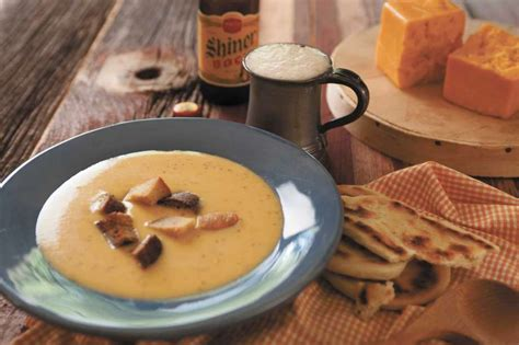 Soups On Cheddar Cheese Soup With Croutons by Recipe Shiner Bock And Cheddar Cheese Soup With Jalape 241 Os