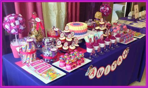 doc mcstuffin candy bar table doc mcstuffin party ideas