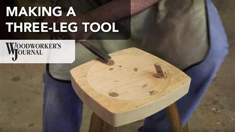 how to make a three legged stool woodturning project