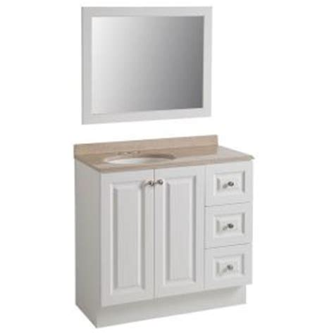 glacier bay bannister 36 5 in w vanity in white with