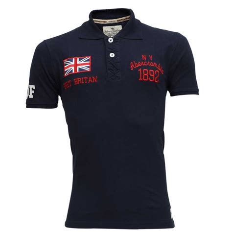 Polo Shirt Abercrombie abercrombie fitch polo shirt sb15p navy blue