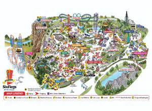 six flags theme park map 2201 road to six