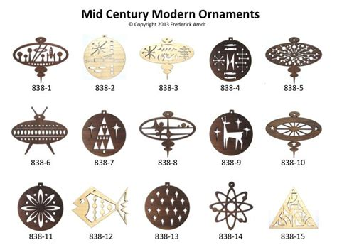 mid century modern christmas ornaments cookie ideas