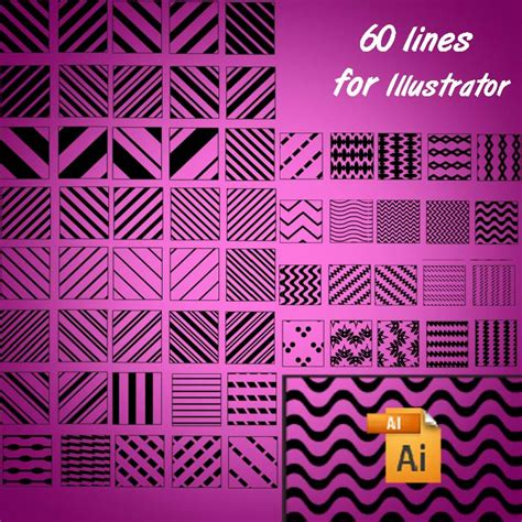 line pattern photoshop tutorial 60 lines for illustrator photoshop patterns