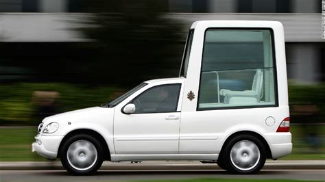 pope mobile pope francis ditches bulletproof popemobile cnn