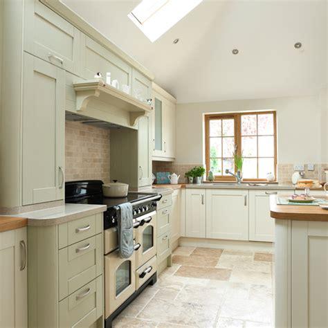Sage green and cream kitchen   Kitchen decorating   Ideal Home