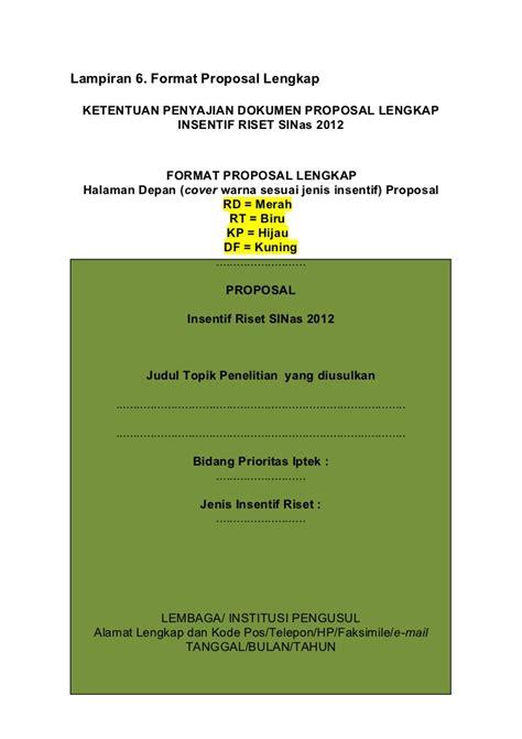 format proposal insinas buku pedoman insinas 2013