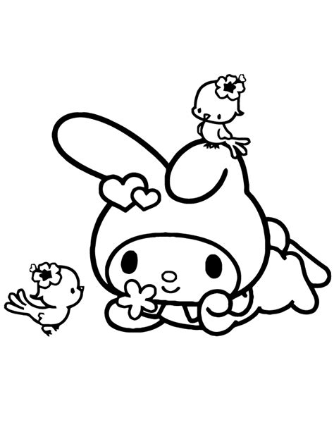 My Melody Coloring Pages Printable Google Search Pins Melody Coloring Pages