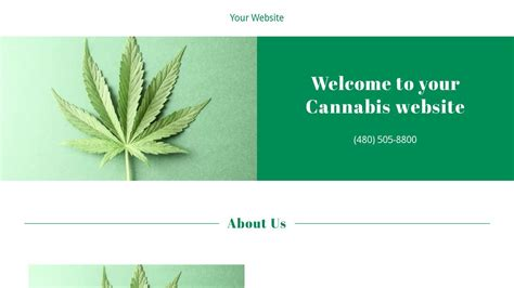 Exle 13 Cannabis Website Template Godaddy Marijuana Website Templates