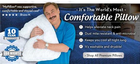 the most comfortable pillow mypillow 174 store